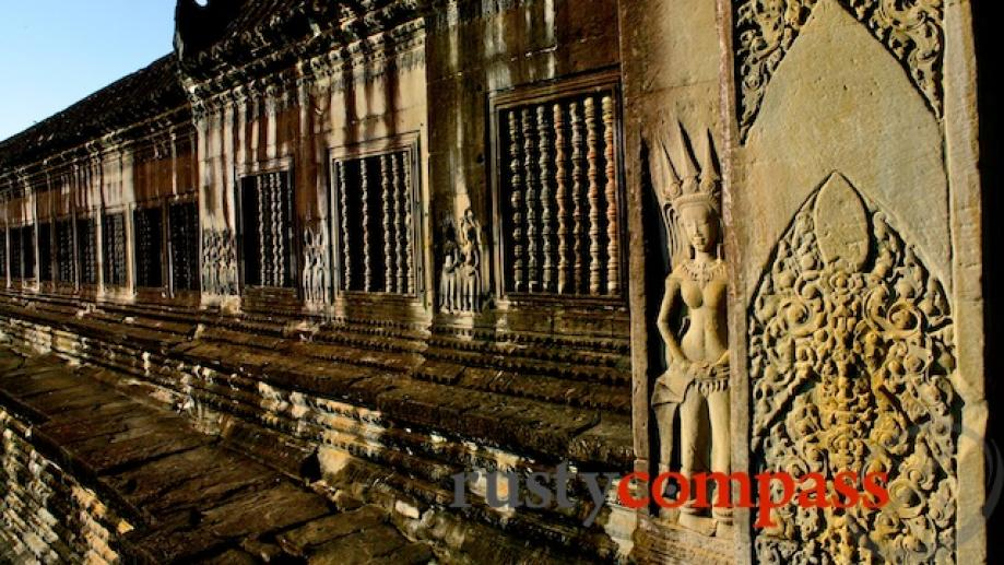 Angkor Wat's detailed carvings are as dramatic as the vast...