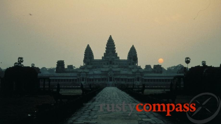 My first Angkor sunrise in 1994. In those days, in...