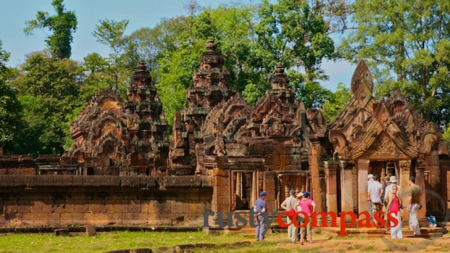 10th  century Banteay Srei may one of the smallest...