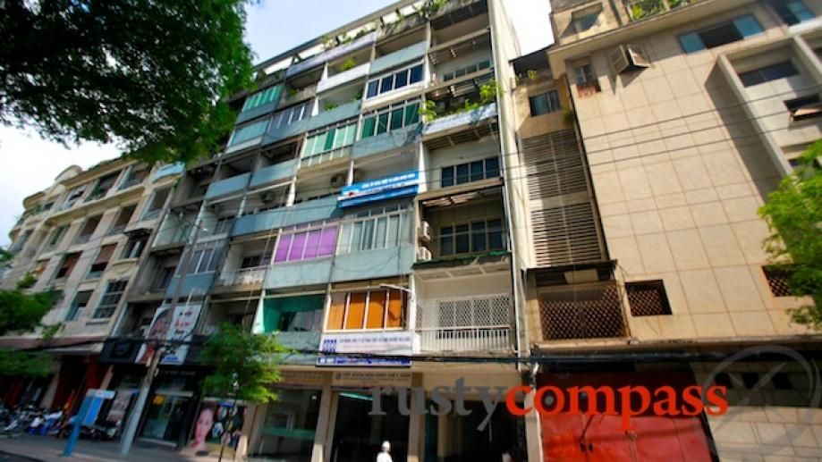 And in downtown Saigon, the anonymous former CIA apartmemt block...