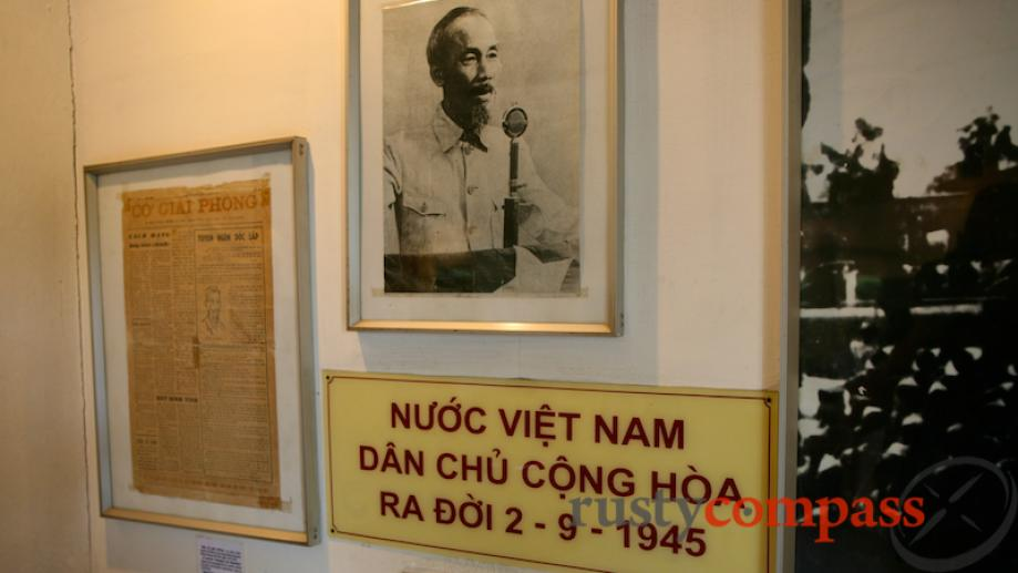 Ho Chi Minh's declaration of independence in 1945 met with...
