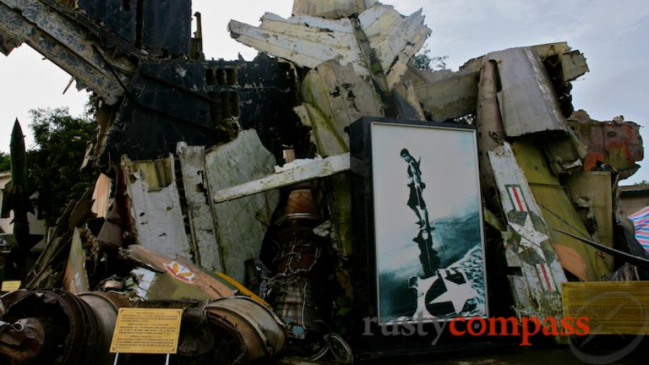 The BB2 wreck with a large print of a famous...