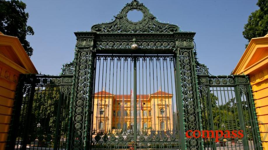 The former French Governor's residence - now the Presidential Palace...