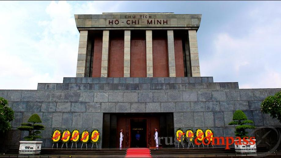 Ho Chi Minh's Mausoleum - inaugurated in 1975, the year...