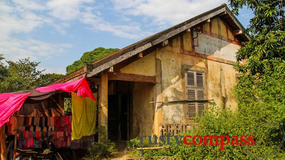 Colonial era country rail station outside of Battambang where the...