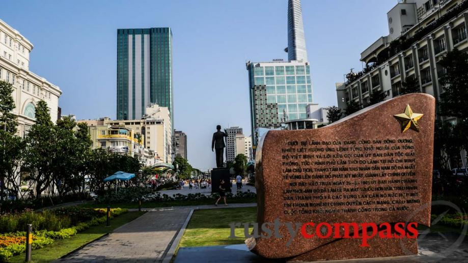 Saigon reaches for the sky - and remembers revolutionary fighters.