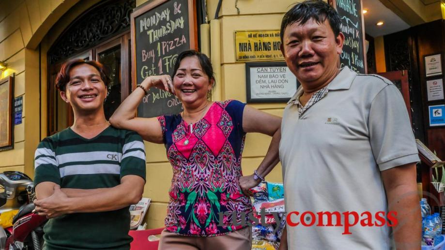 The faces of Saigon. Dong Khoi St changes. Some of...