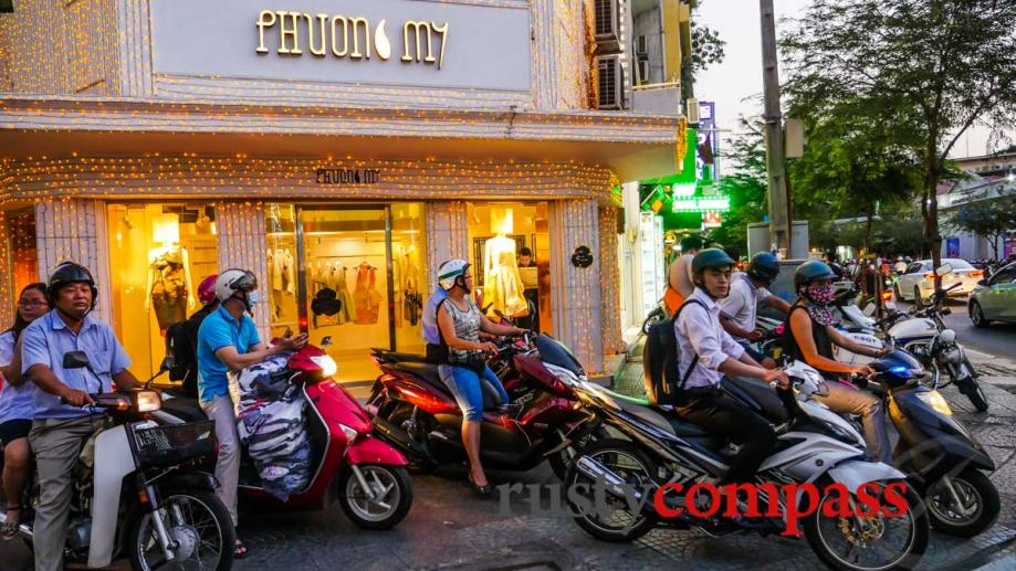 Motorcycles rule - Saigon. This is a Saigon sidewalk. Not...