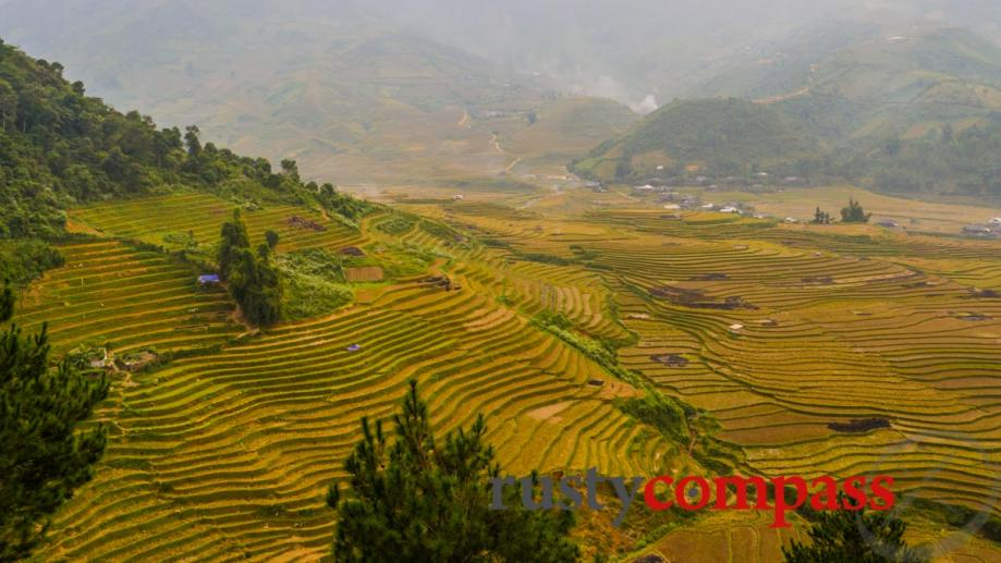 Mu Cang Chai, after the harvest.