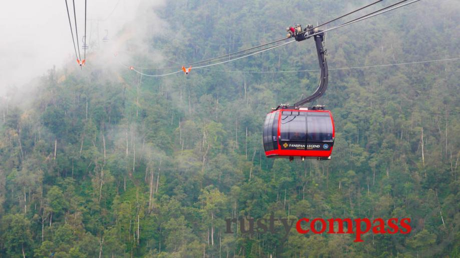 Fansipan cable car, transports travellers to Vietnam's tallest peak.