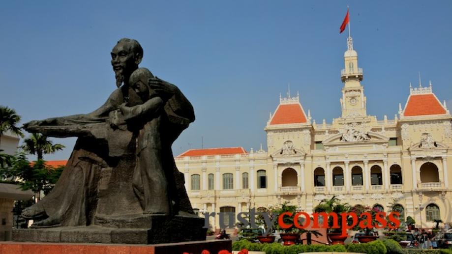 Uncle Ho - Ho Chi Minh, takes his place at...