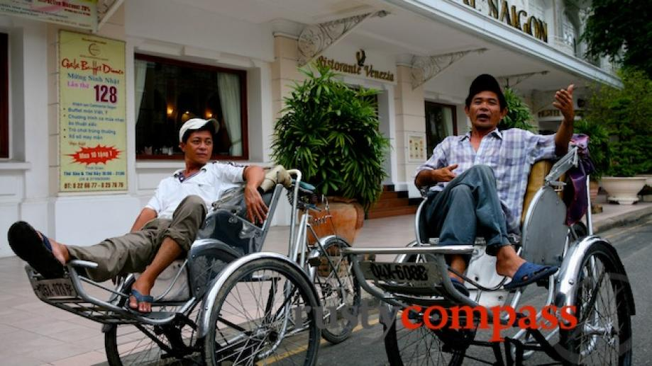 Cyclo drivers - not quite extinct yet in the new...
