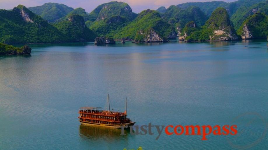 There are loads of boats offering overnight stays on Halong...