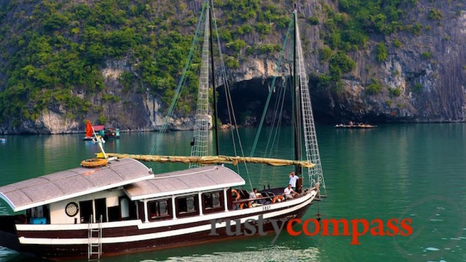 Bhaya Legend, Halong Bay. This smaller Bhaya boat is available...