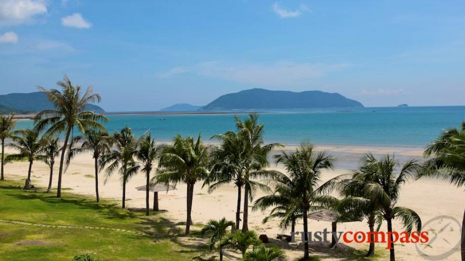 Con Dao Resort - beach views. It shares the same white...