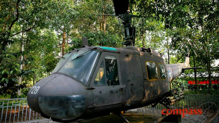This Huey helicopter is another piece of US military equipment...