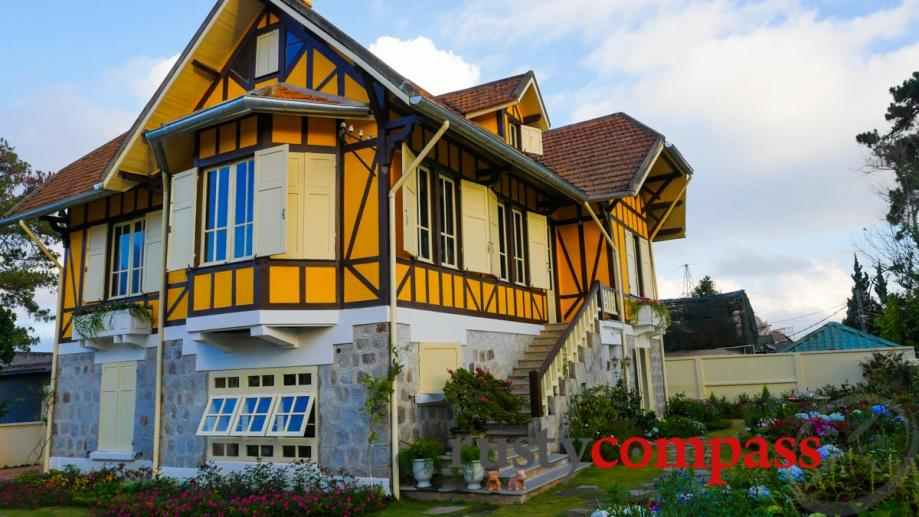 The owner of this newly renovated colonial era Dalat villa...