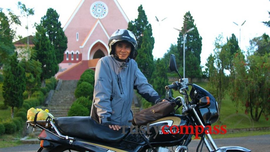 Mr Tam, my xe om - motorcycle taxi in Dalat.