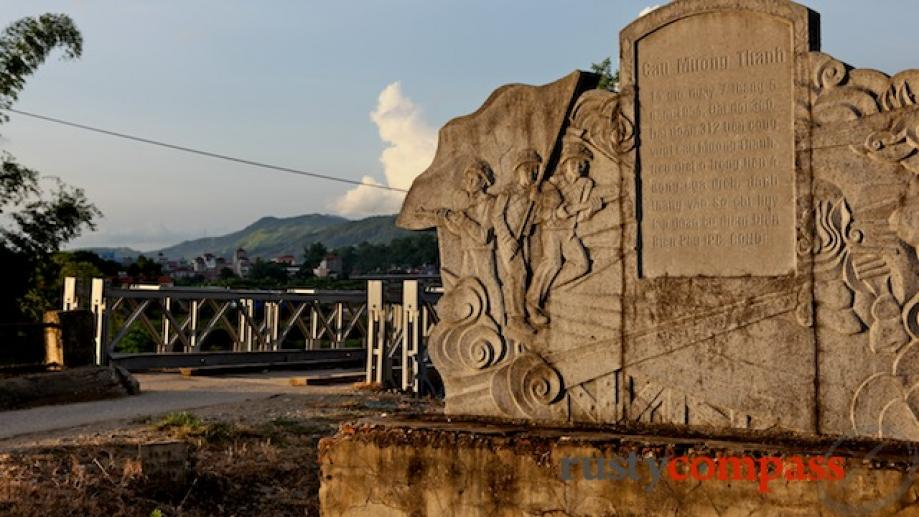 The Muong Thanh bridge. The breaching of this bridge opened up...