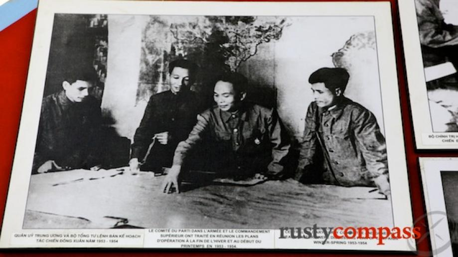 Viet Minh General Vo Nguyen Giap plots his strategy - picture from...