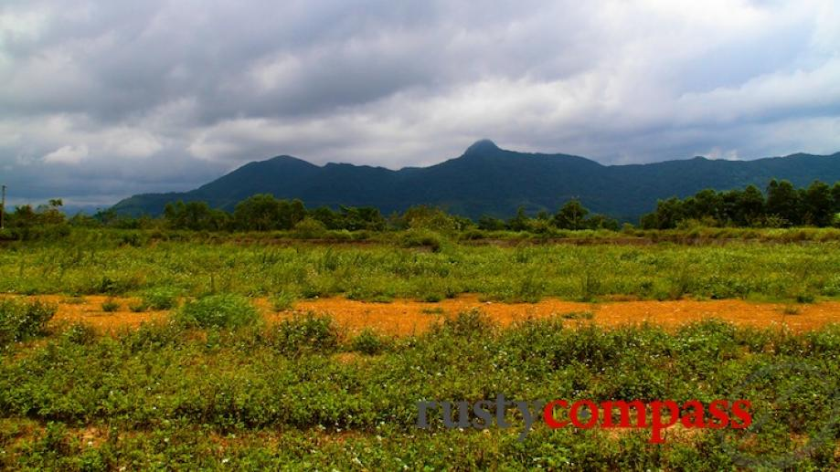 The airstrip at Khe Sanh. The mountains in the background...