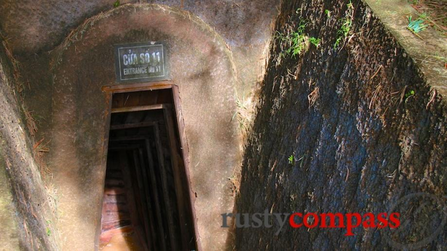 Entrance to Vinh Moc tunnel network on the northern side...