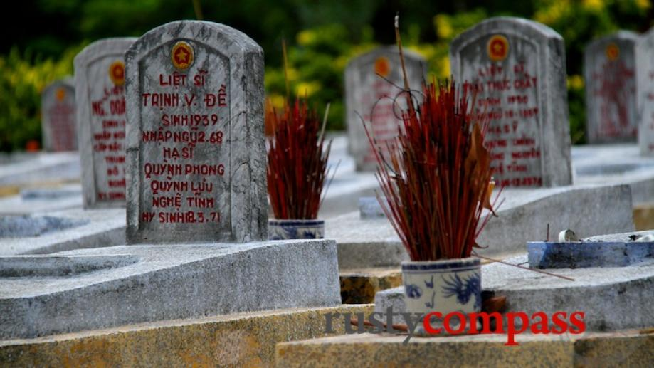Our day ended at the Truong Son Cemetery along the...