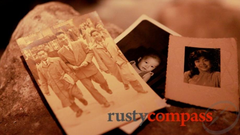 Visitors are invited to select actual family photos collected by...