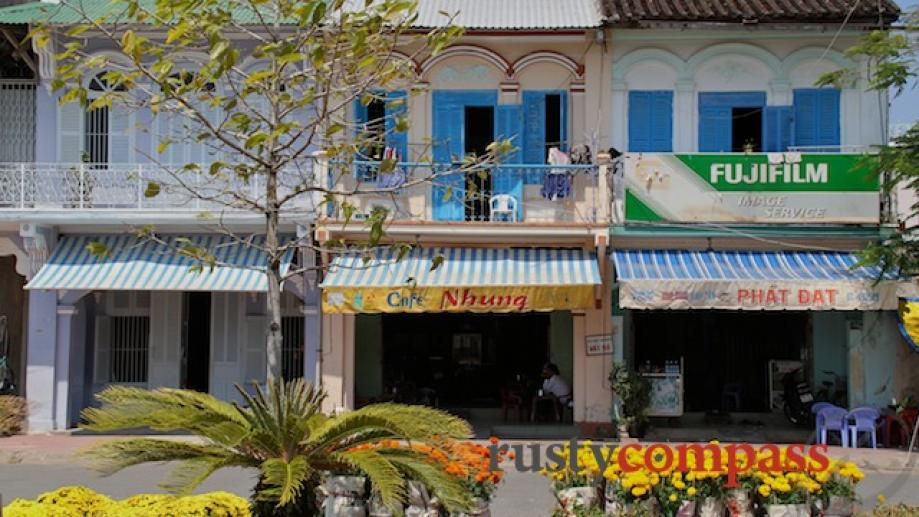 Attractive old shophouses, Ha Tien