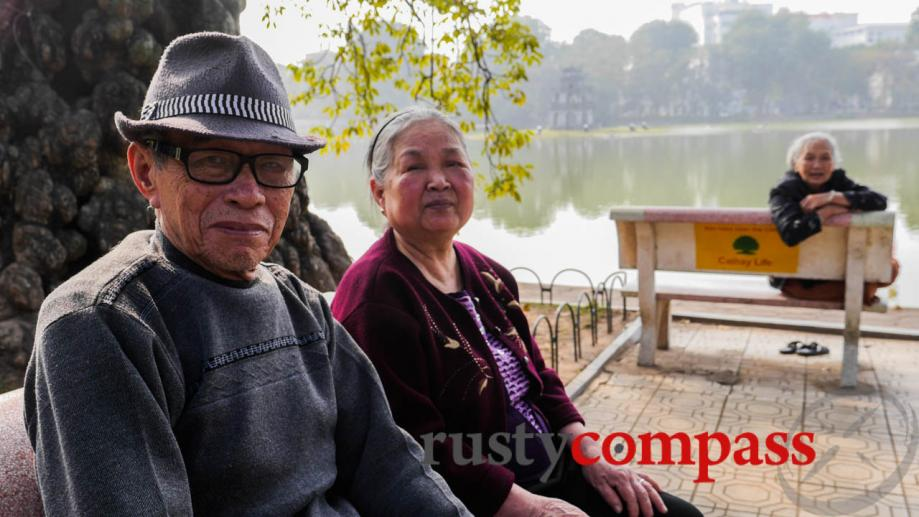 Hanoi's elderly, who gather here in large numbers, are an...