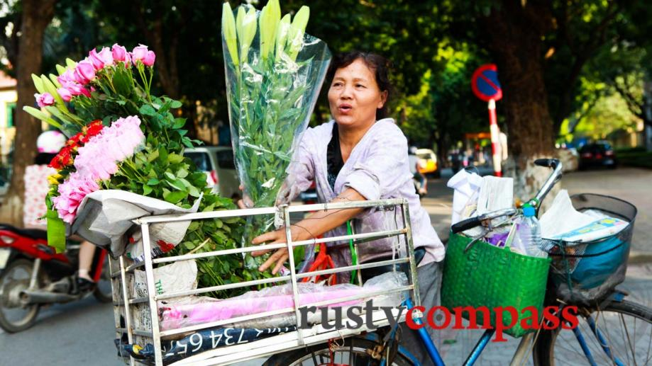 The flower lady, Hanoi