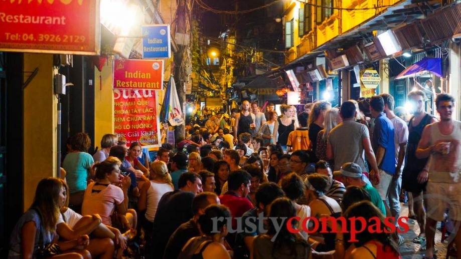Nightlife isn't Hanoi's strong suit - but an exuberant crowd...