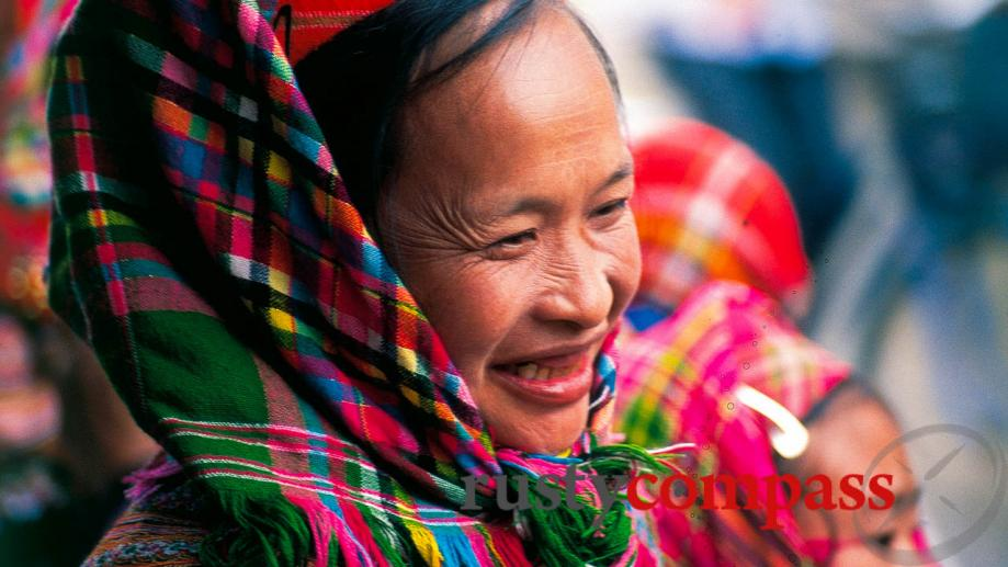 Flower Hmong woman, outside Sapa