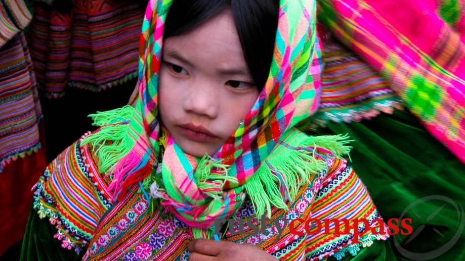 Flower Hmong girl, Bac Ha, near Sapa.