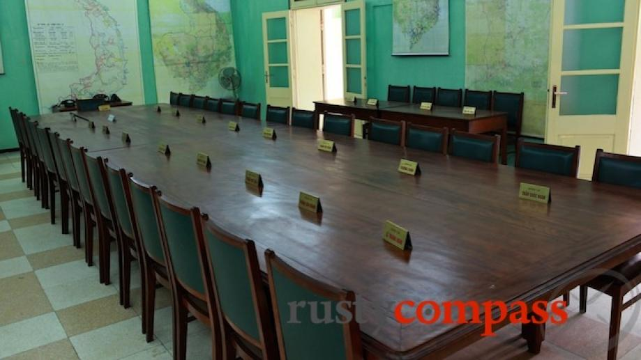 Hanoi Citadel. The room in which North Vietnamese commanders planned their...