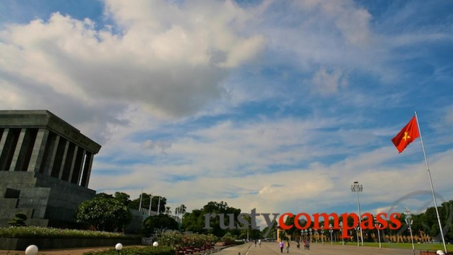 Ba Dinh Square and Ho Chi Minh's Mausoleum. Ho Chi...