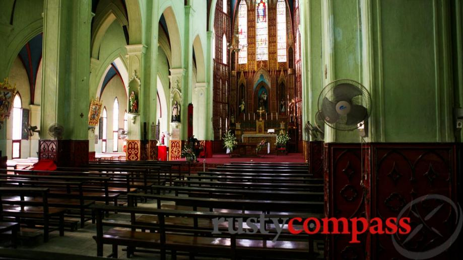 The interior of St Joseph's Cathedral, Hanoi