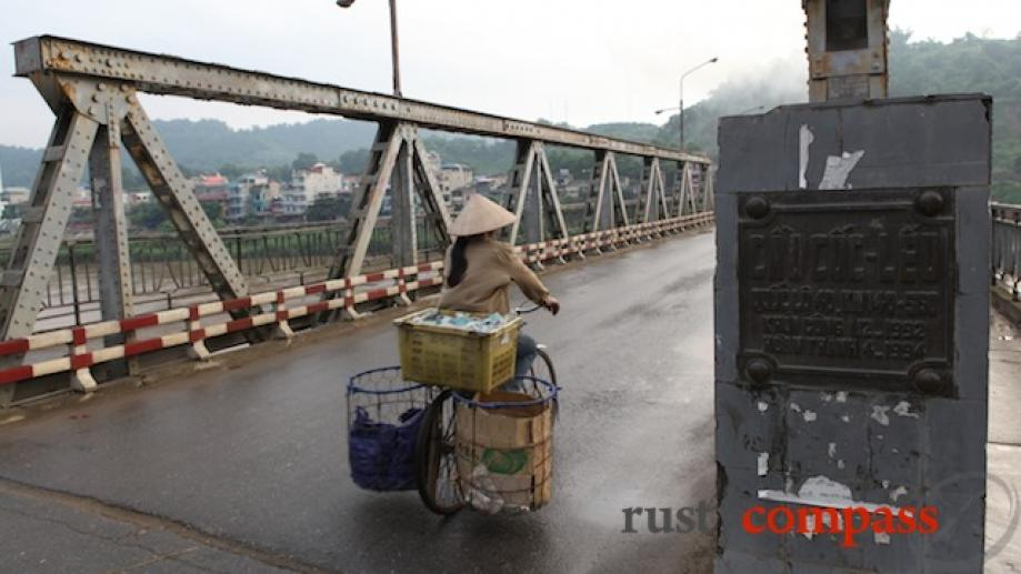 French era Red River bridge Lao Cai.