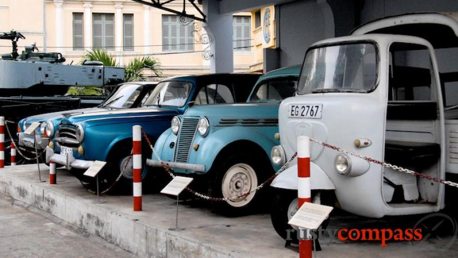 A collection of cars from the French colonial period with...