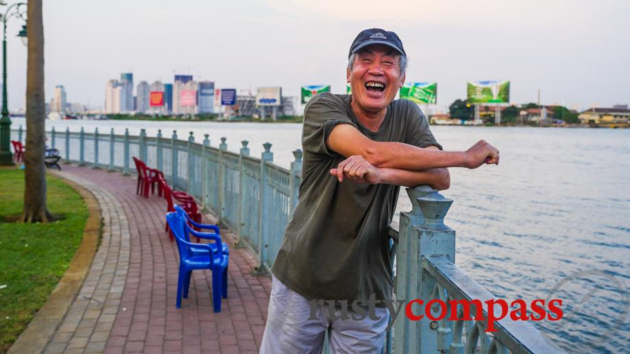 The Saigon smile - on the riverfront.