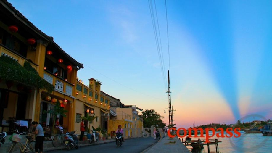 Incredible summer sky on the Hoi An riverside.