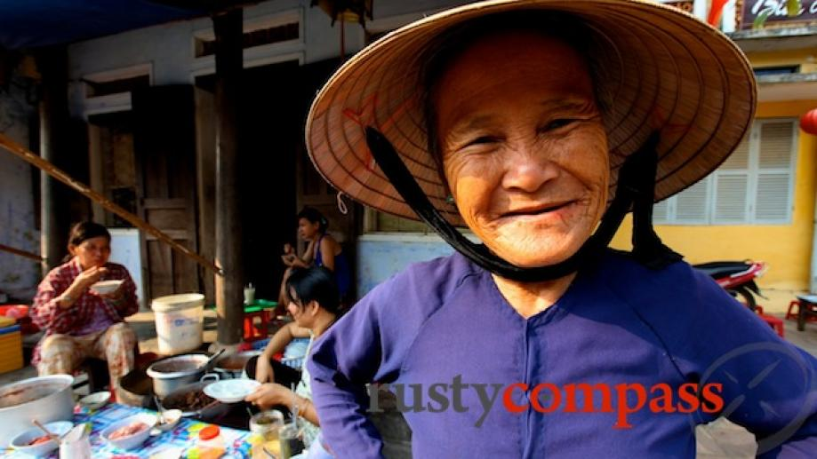 Great character at a streetside food stall, Hoi An