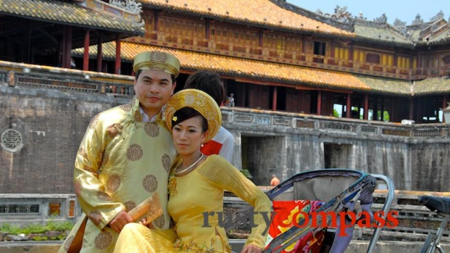 Hue's citadel is a favourite place for wedding photography