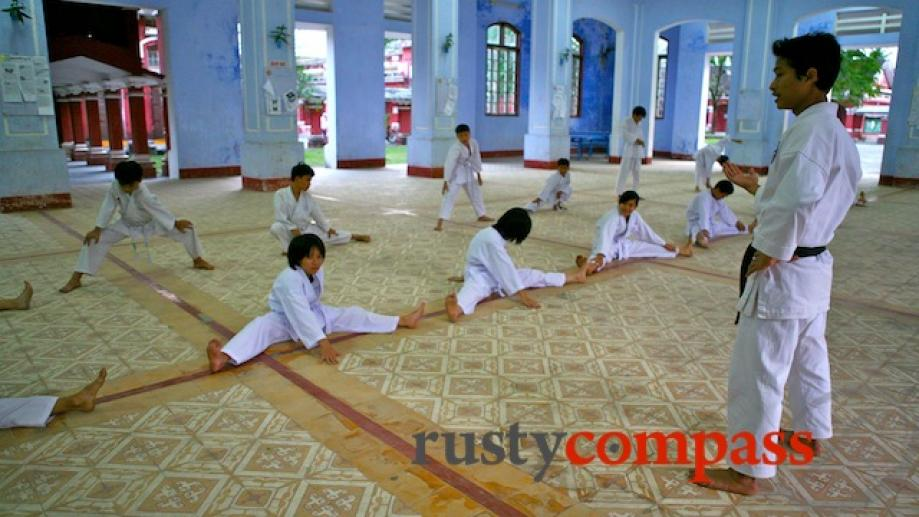 Martial arts training at Hue's prestigious and historic National School.