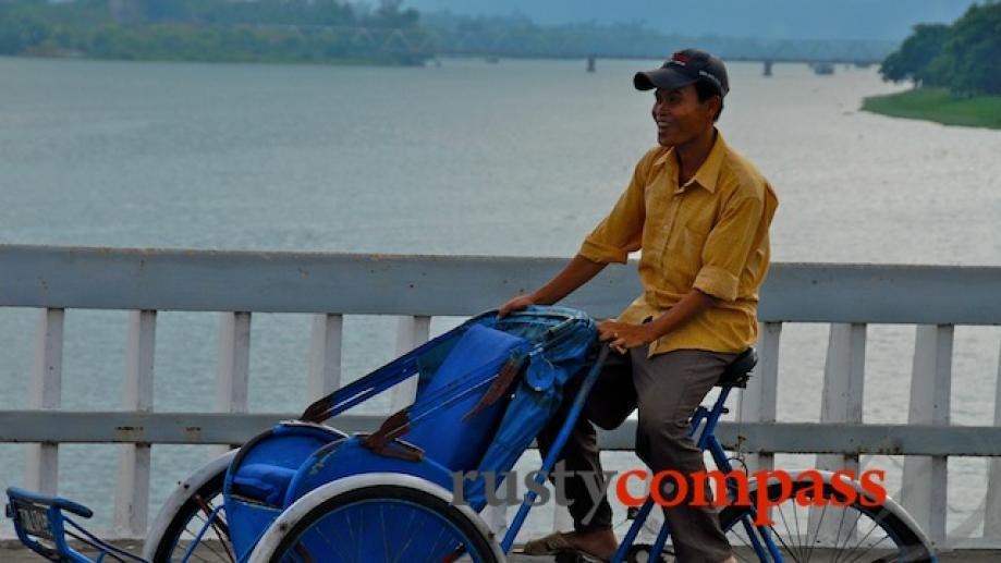 I travelled with this cyclo driver for a couple of...