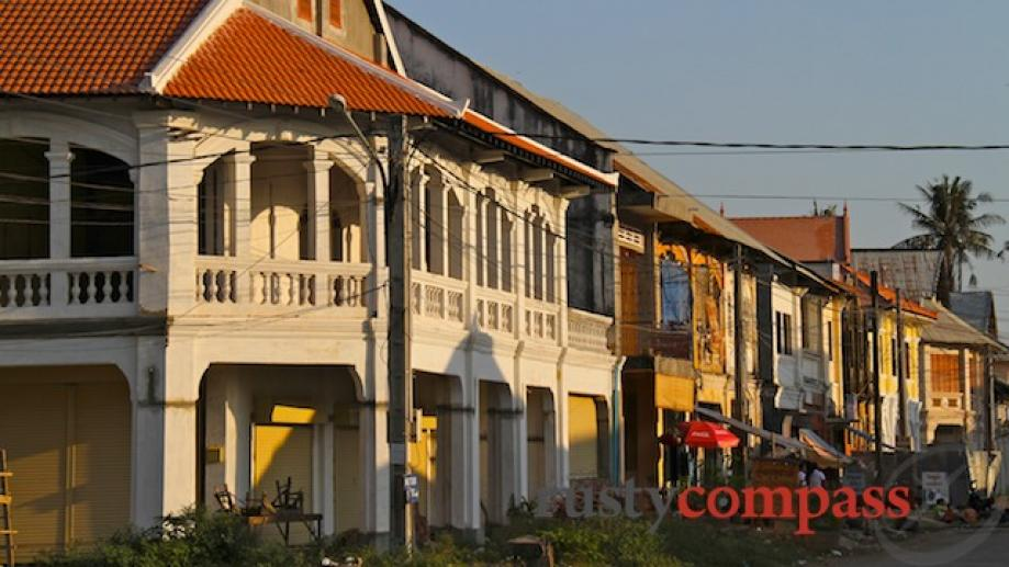 Kampot showcases some of Indochina's best preserved colonial era shophouses...