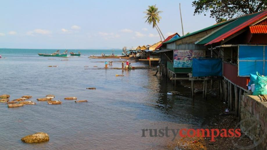 Kep's crab market - an essential dining spot for visitors....