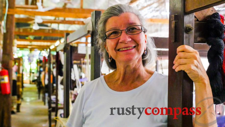 Carol Cassidy - two decades in Vientiane, bringing Lao textiles...