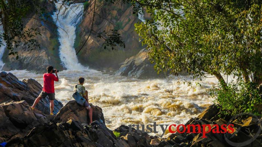 Mekong gets fierce at Khone Phapheng, Si Phan Dong, Laos