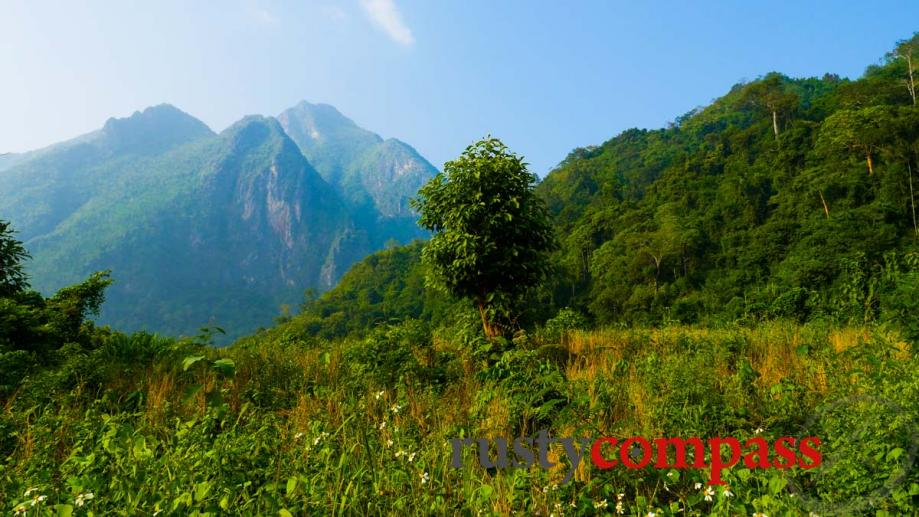 Up to the Nong Khiaw viewpoint, Laos